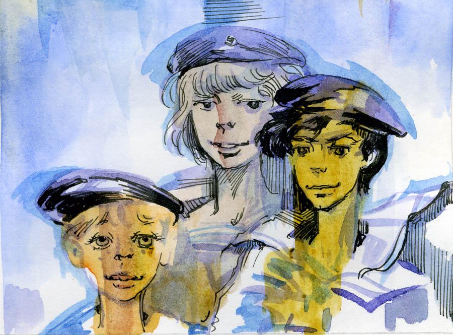 Младшие инструктора (рисунок Е.И. Стерлиговой)