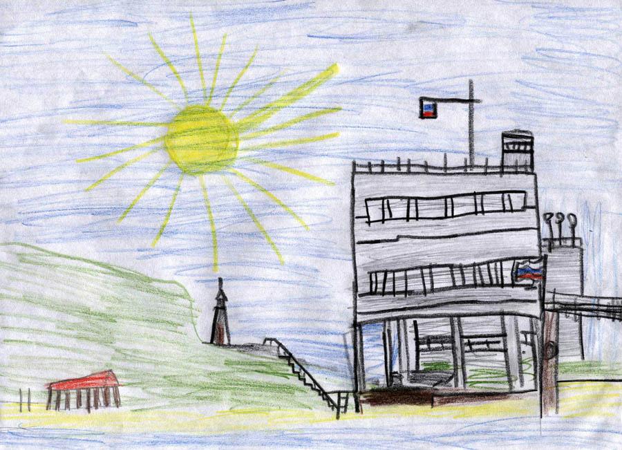 Лагерь «Штормовой» на рисунке Пети Крапивина