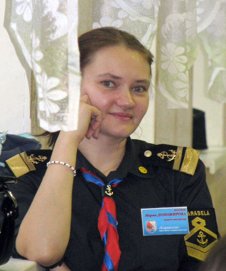 Маша Доможирова, флагман отряда