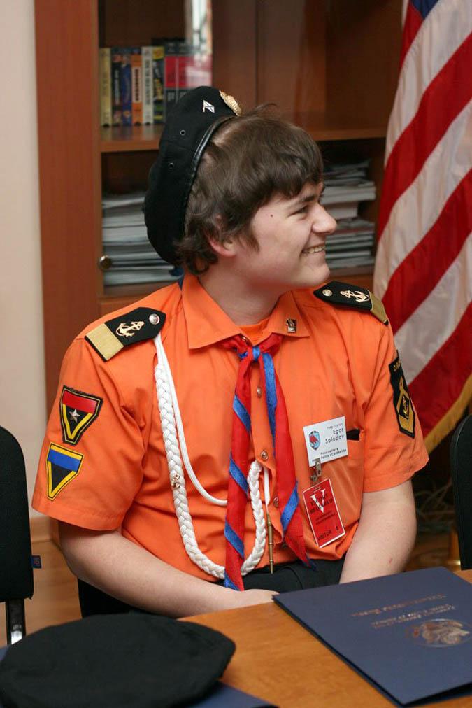 Егор Солодов в американском консульстве