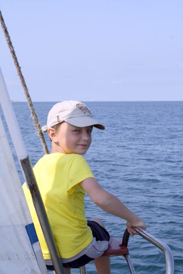"""Серёжка Кривов на яхте """"Фиолент"""""""