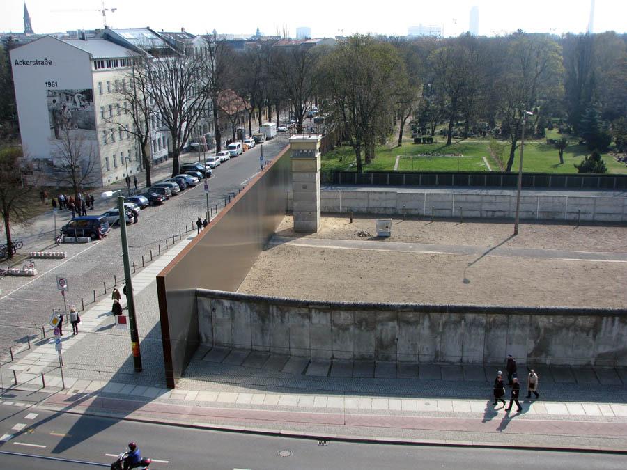 Берлинская стена со смотровой вышки
