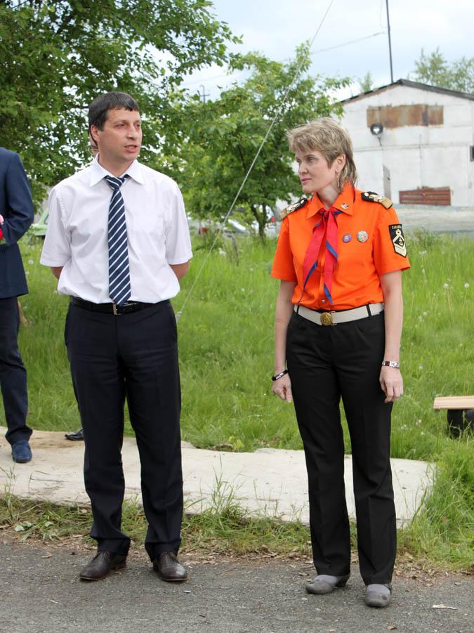 C открытие практики каравелльцев поздравляет Министр физической культуры, спорта и молодёжной политики Свердловской области Леонид Аронович Рапопорт