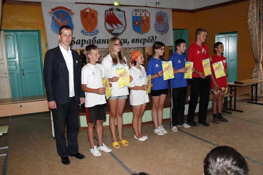 Заместитель министра Е.В. Сильчук вручил лучшим участникам сборов сертификаты на поездку в «Орлёнок»