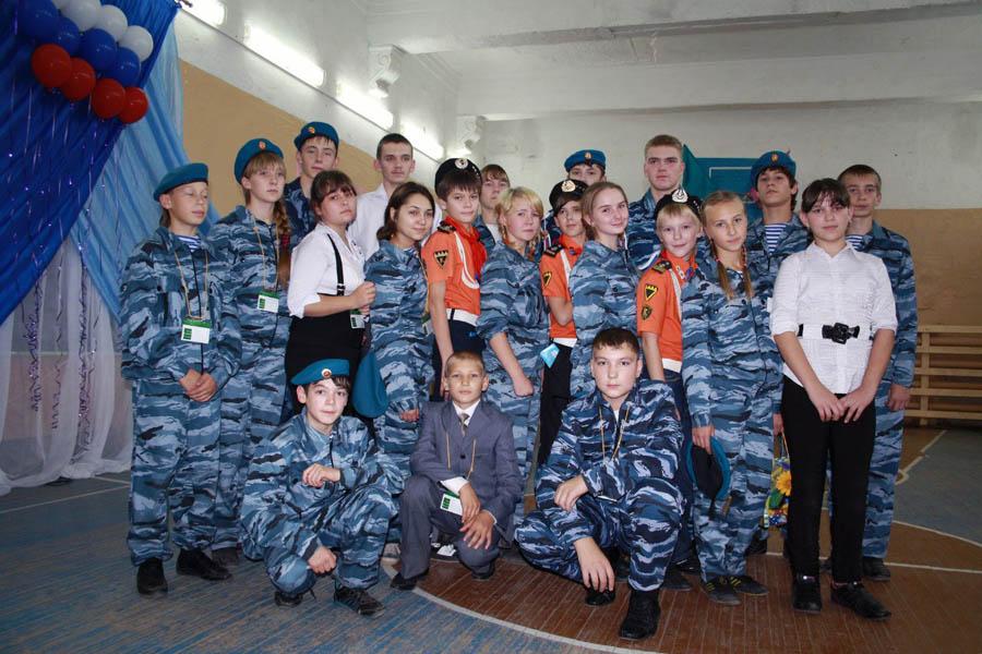 Ребята из клуба «Патриот» и отряда «Каравелла» - организаторы сборов «Возрождение 2012»