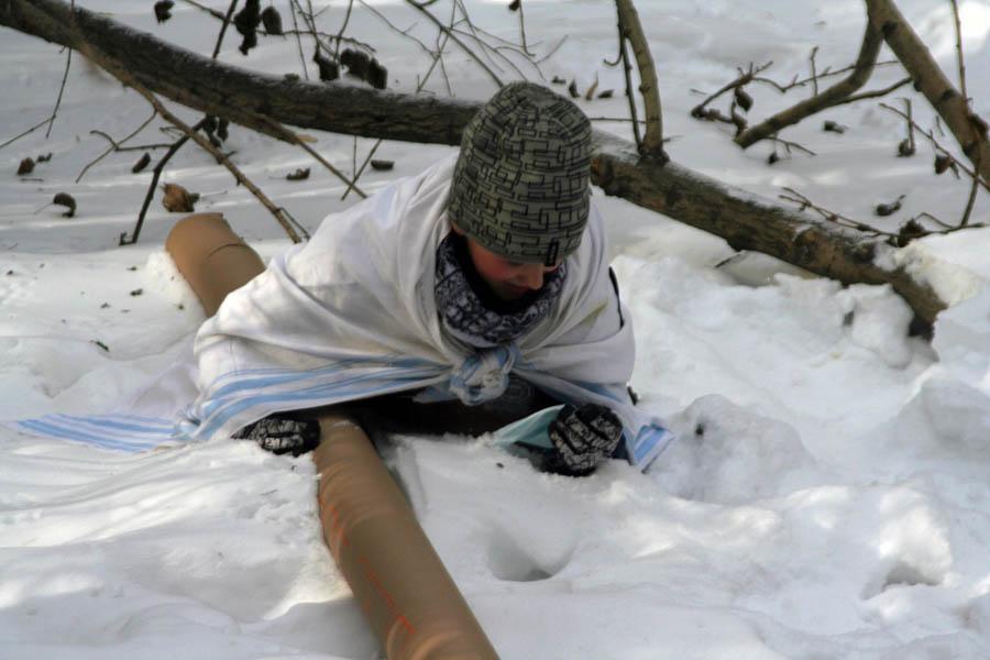Зарница - 2013: каравелльцы по пояс в снегу...