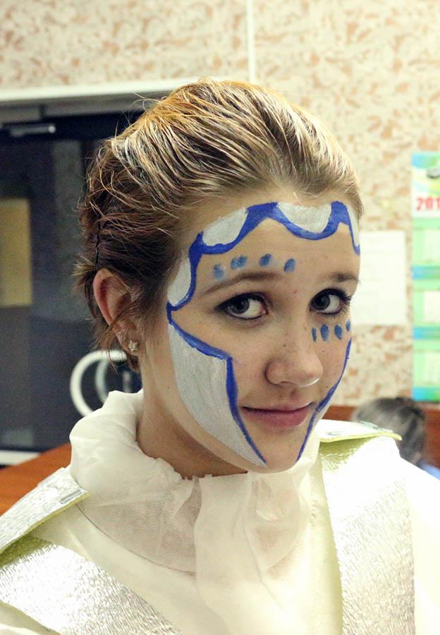 Алёна Федотьева в костюме стража снежной королевы