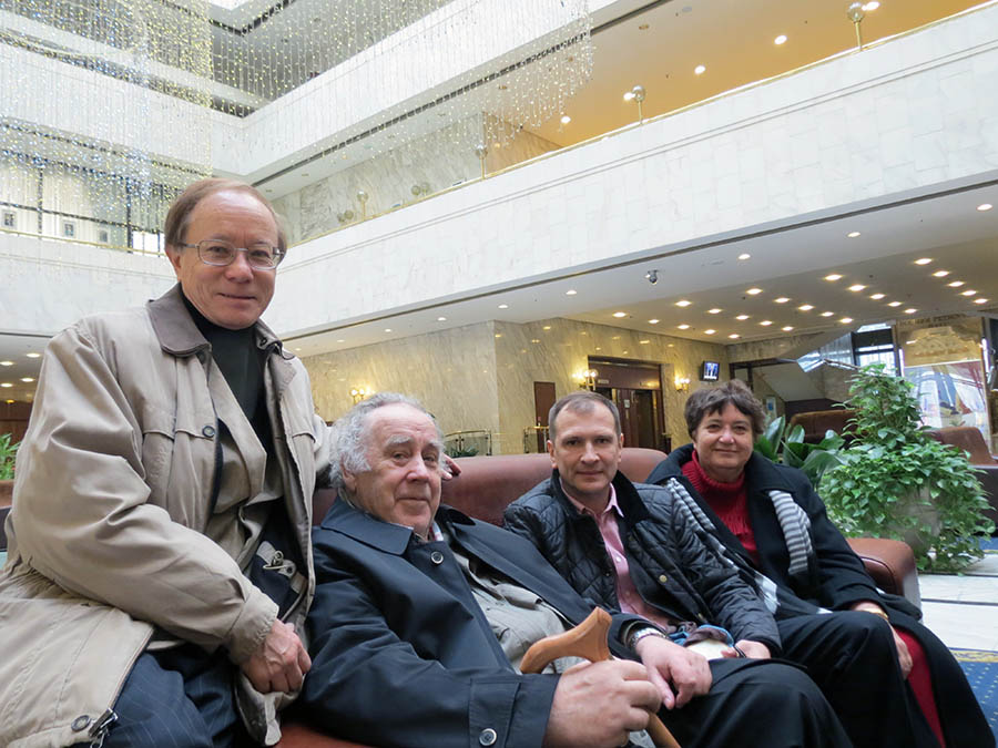 At the station in Moscow the Commodore was met by Michael and Irina Khankhasaevs, Alexander Shkolnik ...