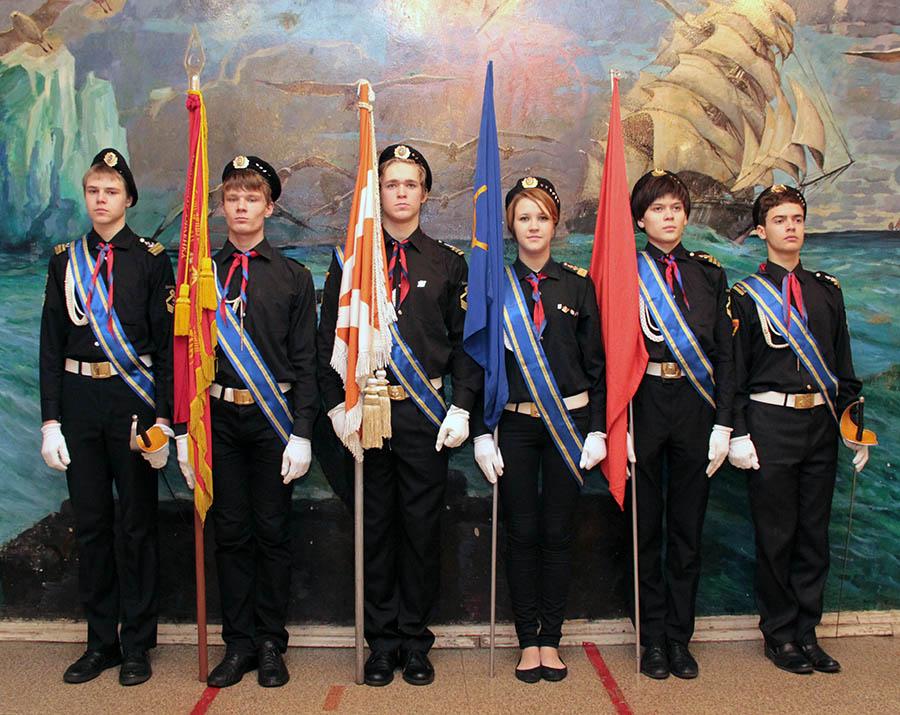 Знамённая группа отряда «Каравелла» (действующий состав, январь 2014 года)
