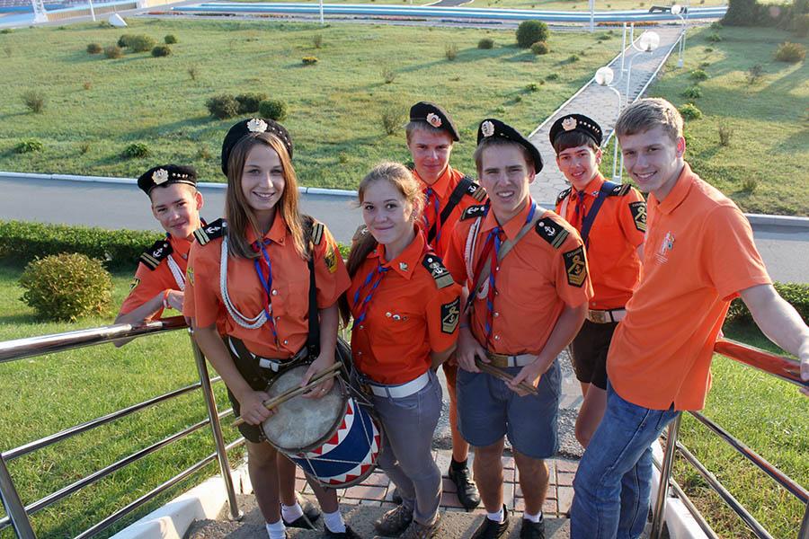 Радостное настроение ребят из делегации отряда «Каравелла»