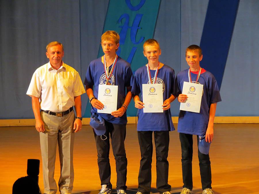 Наши победители всероссийских соревнований с главным судьей