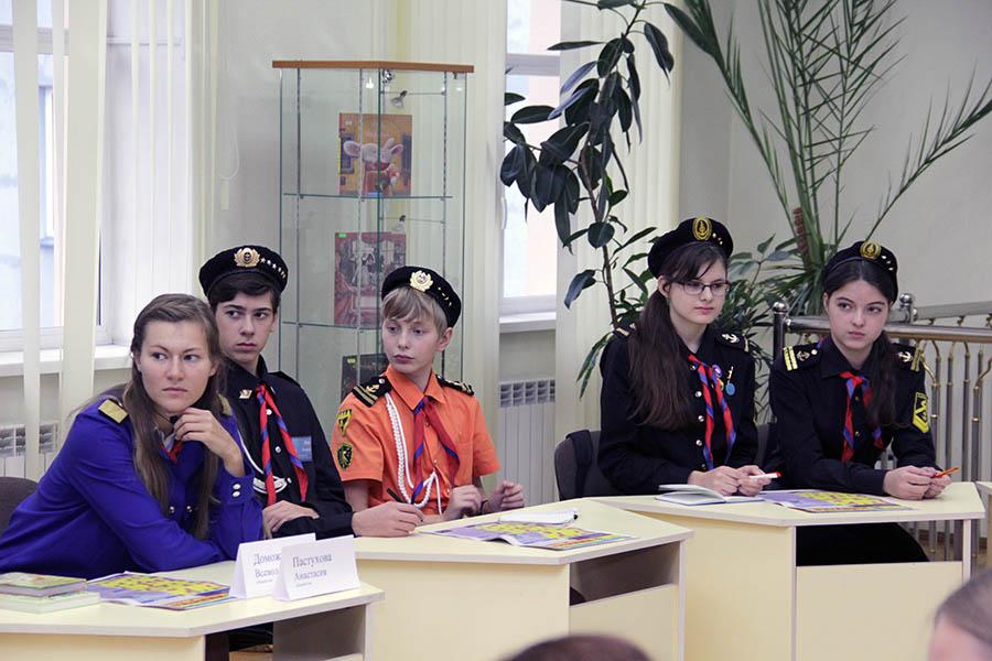 Каравелльцы из детского жюри на круглом столе
