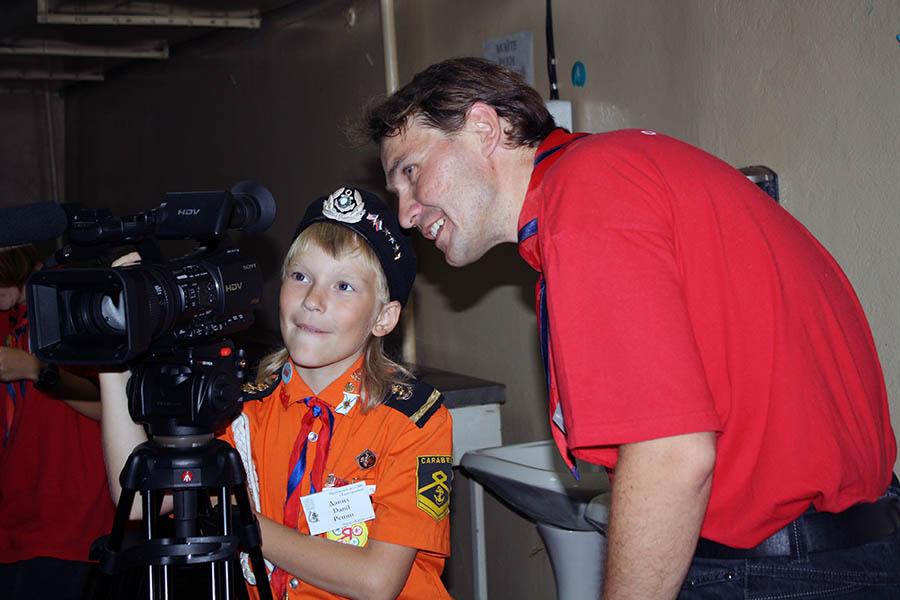 Работа киногруппы на Оранжевом лете - 2011