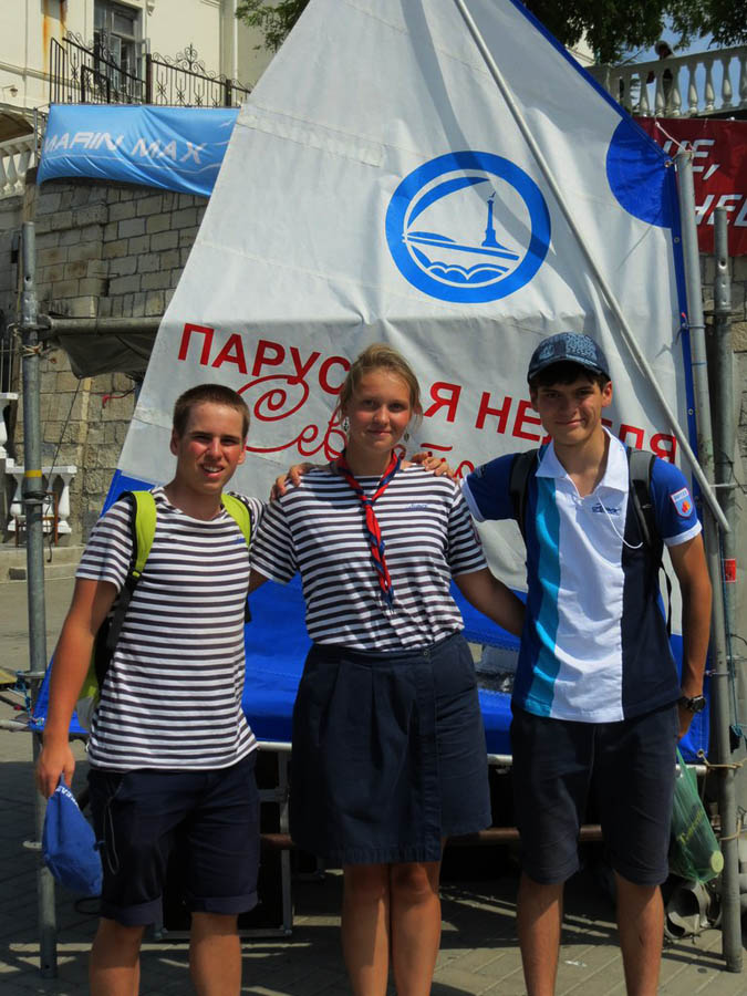 Антон, Маша и Петя встретились с Крымским экипажем в Севастополе