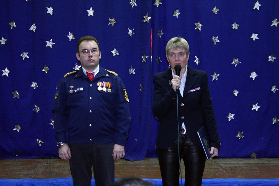 Лариса Крапивина и Всеволод Доможиров открывают церемонию награждения