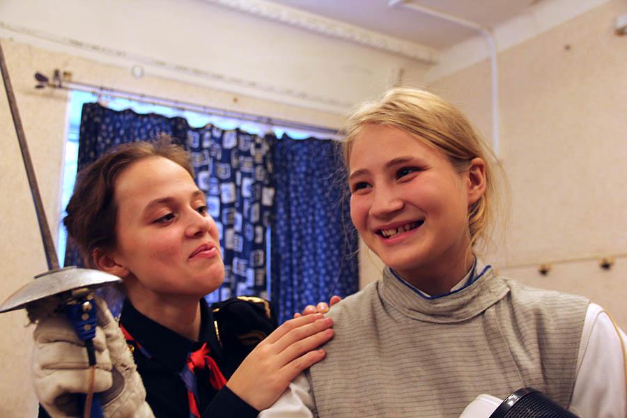 Таня Малыгина (справа) готовится к очередному поединку