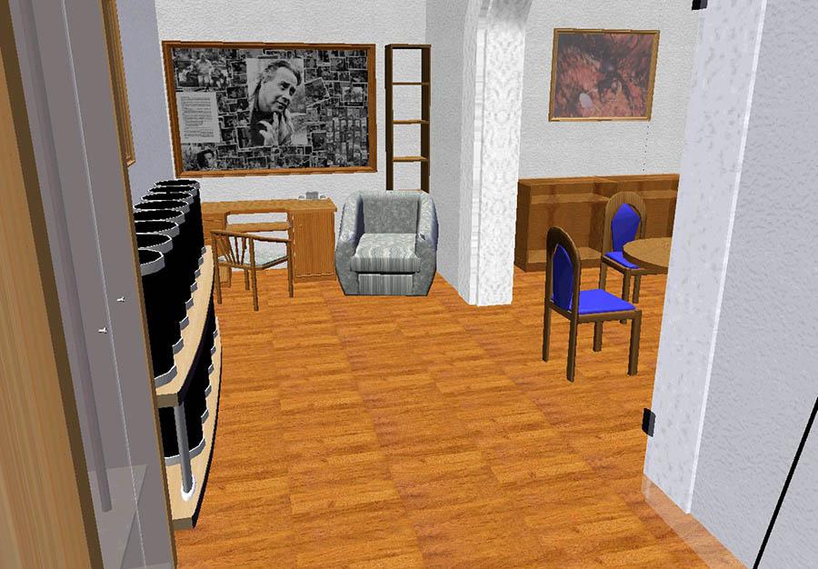 Проект знамённой комнаты с кабинетом писателя