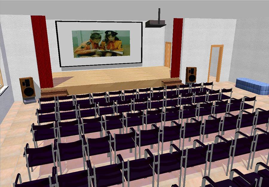 Новый муравейник, где также будут проходить общие сборы, фехтовальные турниры, конференции и театральные постановки