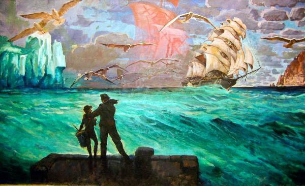 Знаменитая безымянная картина на стене Муравейника
