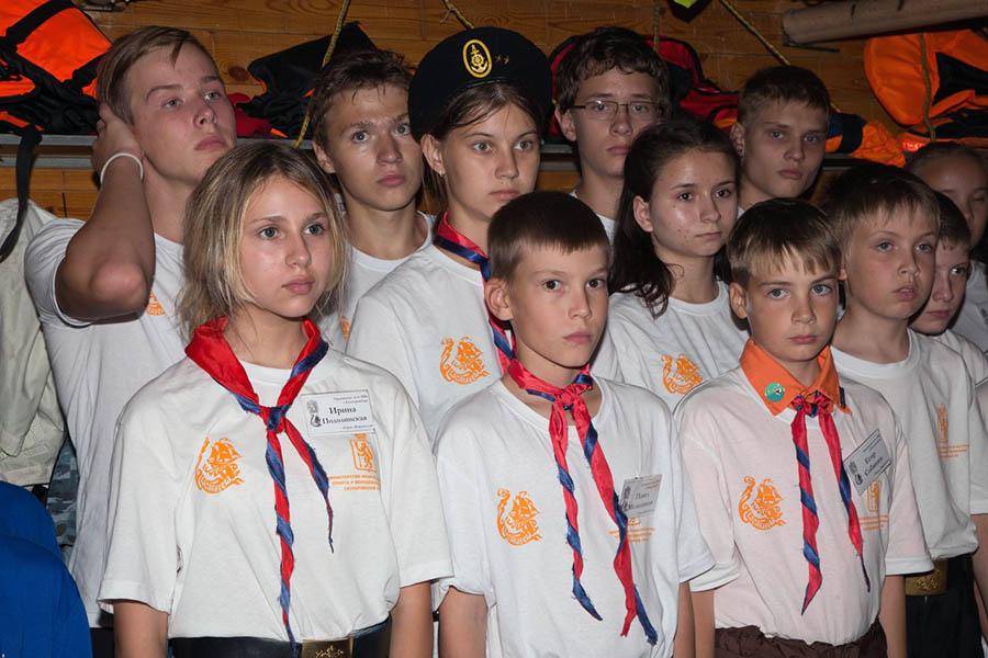 Белый флот в своих футболках на открытии сбора «Оранжевое лето»