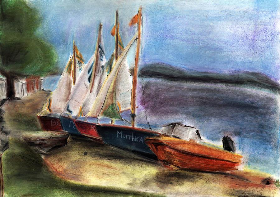 Яхты отряда. Автор: Валентина Тупицына