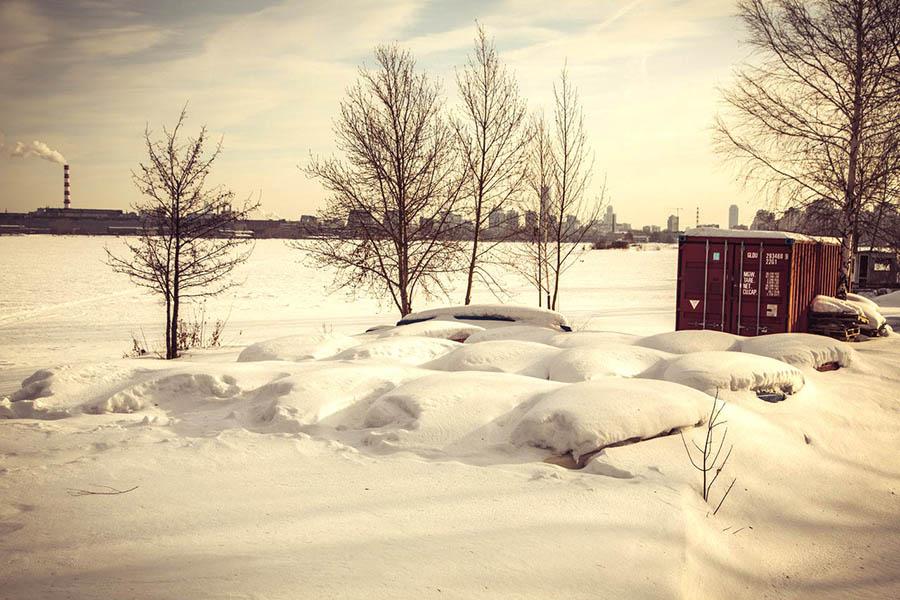 23 февраля 2017 года 10:30 - яхты отряда в снежном плену...