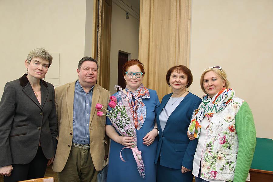 Наставники юнкоров (Крапивина, Цымбаленко, Кулакова, Лебедева, Третьякова) после защиты диссертации