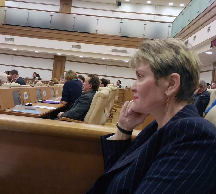 Командор отряда Лариса Крапивина на заседании Общественной палаты