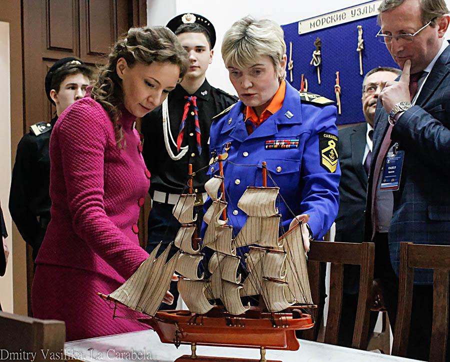 Знакомство с морским направлением отряда в штурманском классе