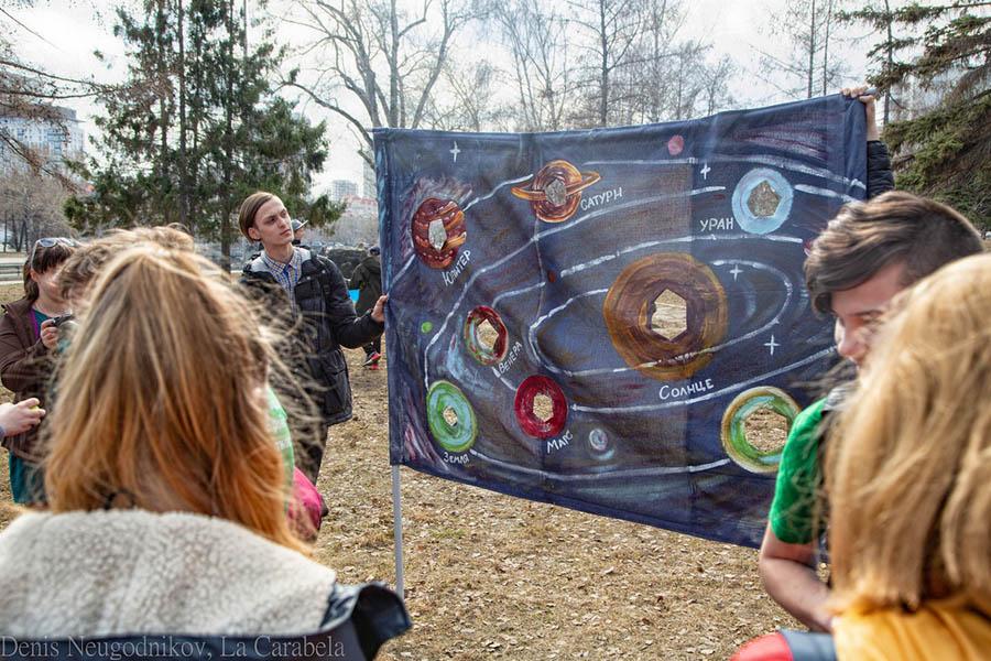 Участникам Дня Космонавтики посчастливилось побывать на многих интерактивных площадках