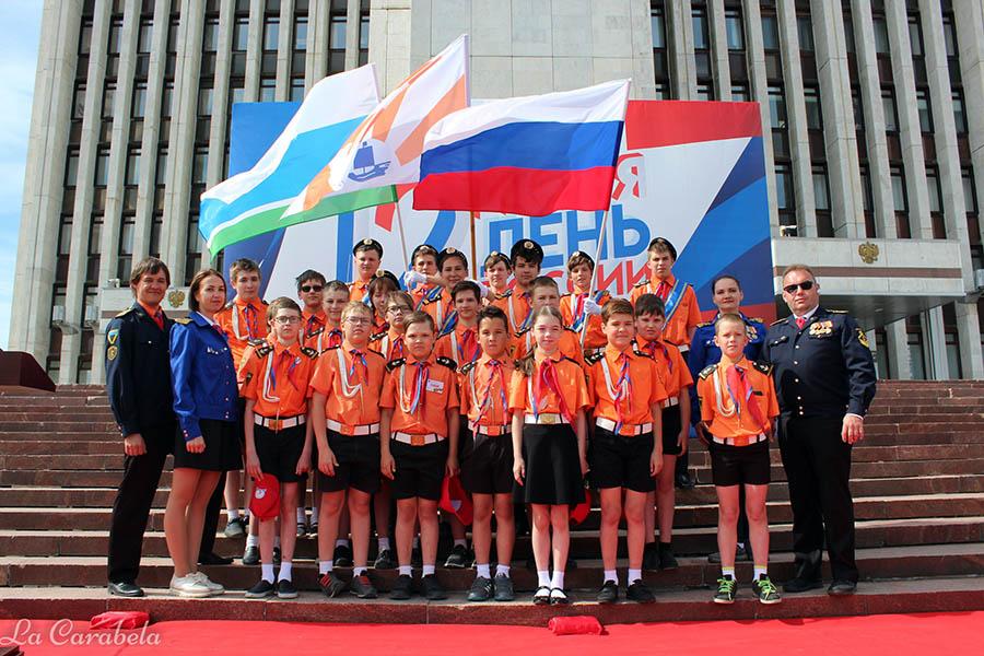 Каравелльцы после парада на площади у Правительства Свердловской области