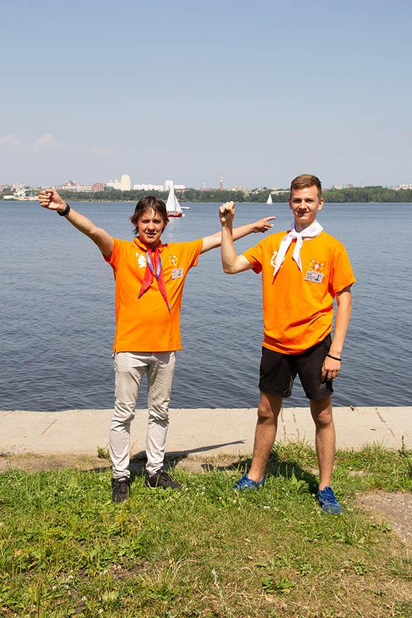 Кураторы приветствуют участников сборов «Оранжевое лето» 2019 года