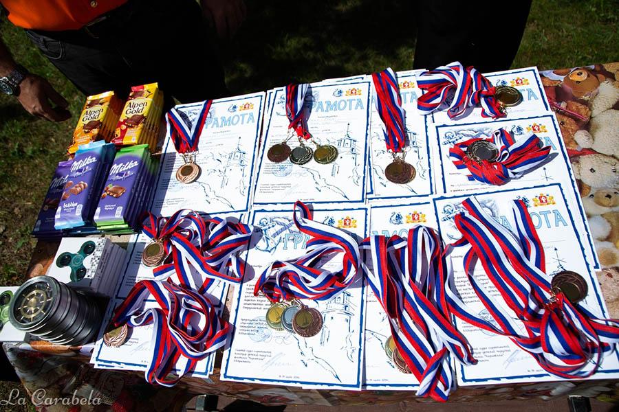 Медали и грамоты, а также памятные призы получили лучшие
