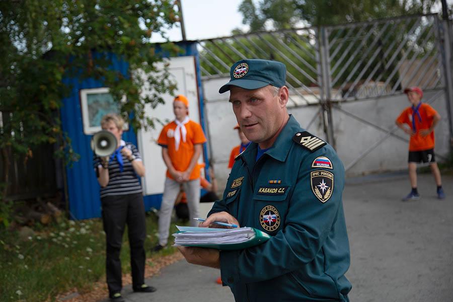 Старший инспектор ГИМС Сергей Кабаков - главный вдохновитель эстафеты