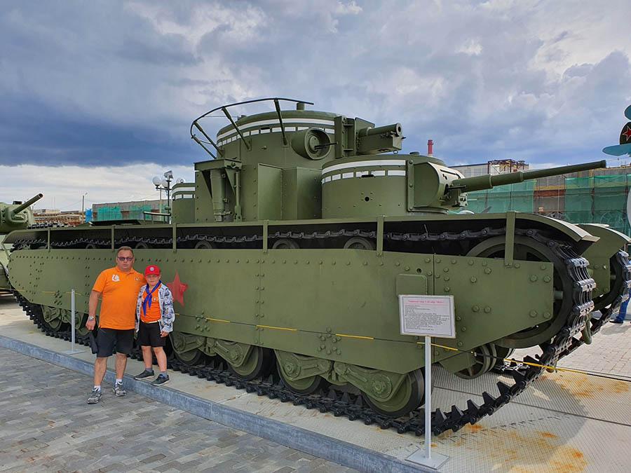 На музее под открытом небом «Боевая Слава Урала» в Верхней Пышме