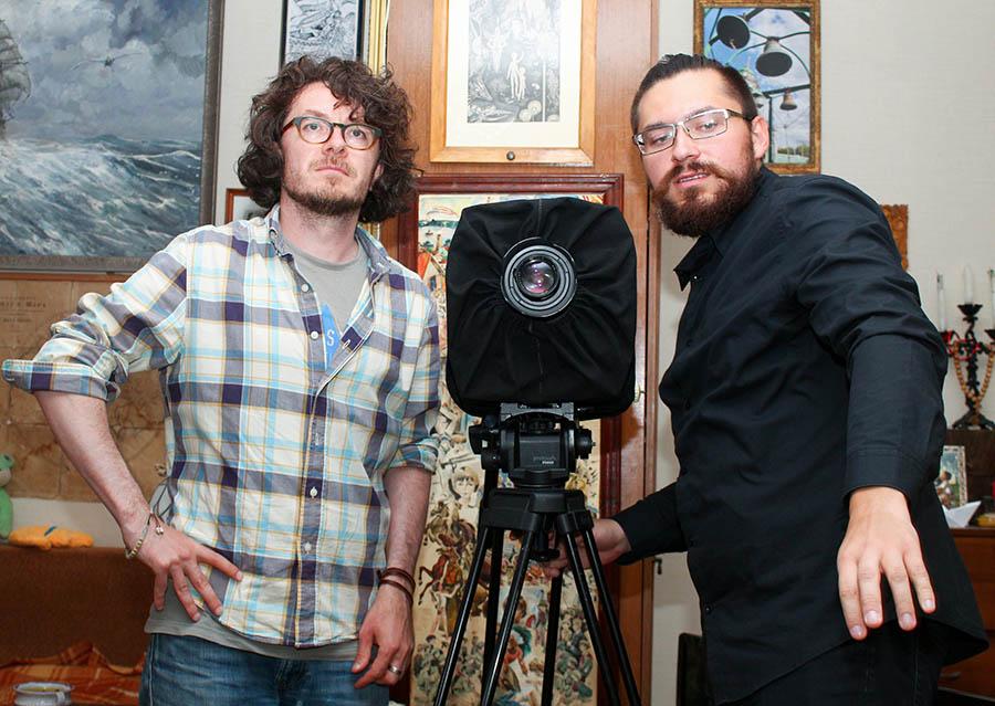 Станислав Холкин и Тимур Сафиуллин в своём фотопроцессе