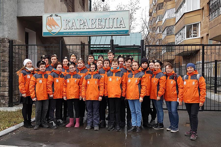 Волонтёры отряда «Каравелла» готовы к работе в холодных погодных условиях…
