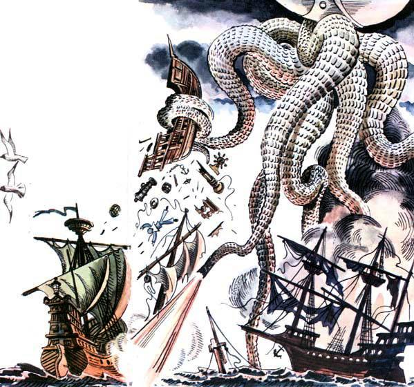 Иллюстрация Е. Медведева из произведения В. Крапивина Дети синего фламинго