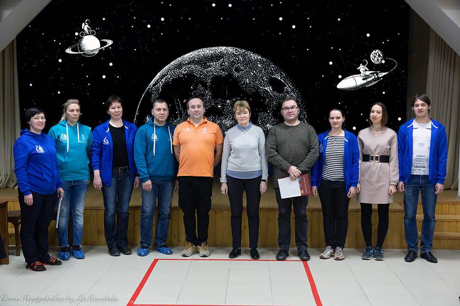 Команда организаторов ЛУНного путешествия встречает его участников